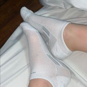 Extremely used white ankle socks